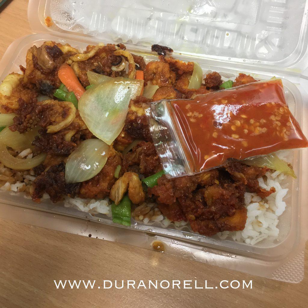 Order online nasi berlauk untuk makan lunch menggunakan perkhidmatan Food Delivery Kuala Lumpur