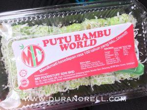 Putu Bambu World di RnR Bukit Gantang Sedap! RM4 per pack!